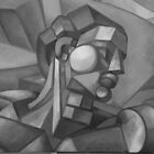 first cubist man oil painting   by Ronald Eschner