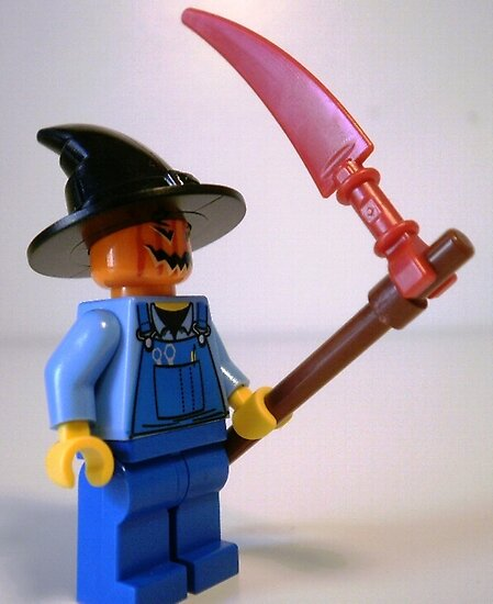 Scary Halloween Scarecrow LEGO® Custom Minifigure & Scythe, by 'Customize My Minifig' by Chillee