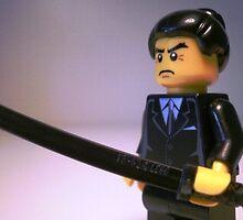 Japanese Yakuza Gokudō Gangster Custom LEGO® Minifigure, by 'Customize My Minifig' by Chillee