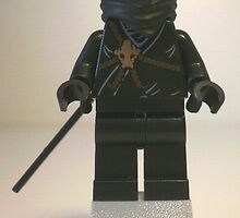 Black Ninja (Ninjago Style) Custom LEGO®  Minifigure, by 'Customize My Minifig' by Chillee