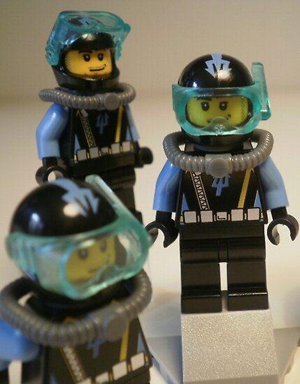 LEGO® Aqua Raider Diver 1 Minifigure, by 'Customize My Minifig' by Chillee