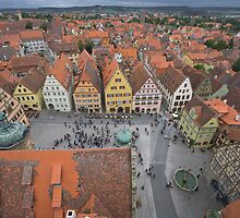 Rothenburg Germany From The Town Center Bell by photosbyflood