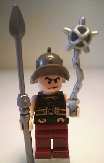 Gladiator 'Cracalla the Gladiator' LEGO® Custom Minifigure, by 'Customize My Minifig'  by Chillee