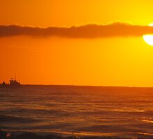 Trawler in the Dawn - Apollo Bay, Victoria by Heather Samsa