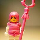 Pink Chinese Hero Warrior Custom LEGO Minifigure, by &#x27;Customize My Minifig&#x27; by Chillee