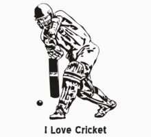 I Love Cricket by best-designs
