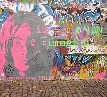Lennon Graffiti Wall, Prague by ChrisCiolli
