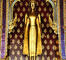 Buddha Figure at Wat Po by Carole-Anne