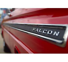 1965 Ford Falcon Name Plate Photographic Print