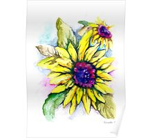 """""""power of flowers"""" sunflowers Poster"""