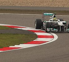 Nico Rosberg safely in the lead by Mark Bolton