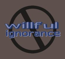 Ban Willful Ignorance (blue) Kids Clothes