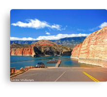 Bighorn canyon boat launch Canvas Print