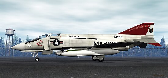 F-4J Phantom (VMFA-235 Death Angels) by Walter Colvin