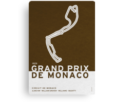 Legendary Races - 1929 Grand Prix de Monaco Canvas Print