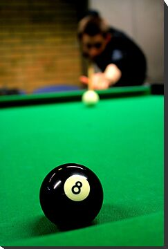 Billiards - Taking The 8 Ball  by rsangsterkelly