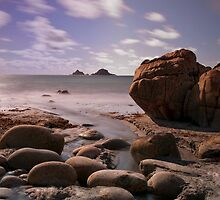 Porth Nanven beach by Rachel Slater