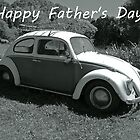 "VW Beetle - ""Happy Father's Day"" Card by Sandy1949"