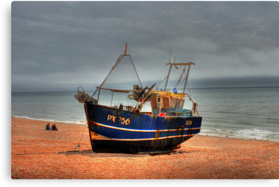 Hastings fishing boat by larry flewers