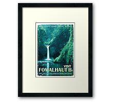 Exoplanet Travel Poster Fomalhaut B Framed Print