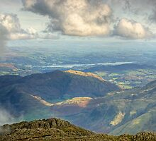 Bowfell Summit..Views East by VoluntaryRanger