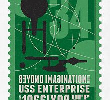 Starship 34 - poststamp - USS Enterprise  by Chungkong