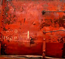 Box Car Rusty Grunge by Elaine Bawden