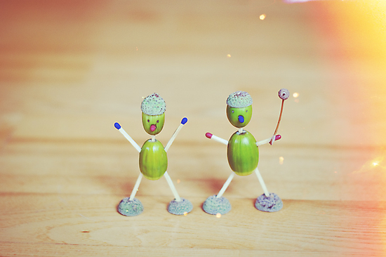 Acorn people by Anete Bauere