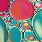 Retro Coloured Oil & Water Drops by Sharon Johnstone