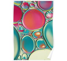 Retro Coloured Oil & Water Drops Poster