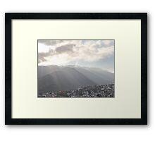 Sunrise At The Sierra Madre II - Amanecer En La Sierra Madre Framed Print
