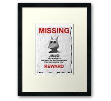 Missing Jinjo Framed Print