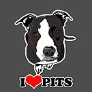 I love Pit Bulls Case by JessDesigns