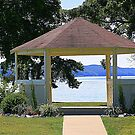 Arbor with Lake View  by Ruth Lambert