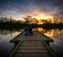 Sunrise Lovers By The Lake by Yhun Suarez