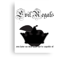 Evil Regals Canvas Print
