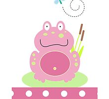 Fiona the Pink Pond Frog Case by JessDesigns