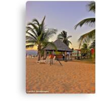 Caribbean sea beach Canvas Print