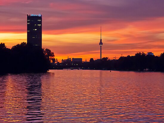 Sunset in Berlin, Germany by GrahamCSmith