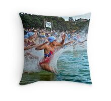 Balmoral Ocean Swim - Blue Caps Throw Pillow