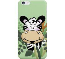 Cute Zebra in the Jungle iPhone Case/Skin