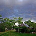 Storm clouds over Paramoor Winery by John Mitchell