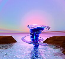 Fantasy water whirlwind with ice rings by Aurora