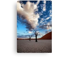 Clouds over Dead Vlei Canvas Print