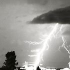 Lightening shocks house by LeonieRobertson