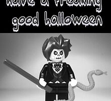 """Have a Freaking Good Halloween"" Custom LEGO® Evil Magician Greeting Card, by 'Customize My Minifig' by Chillee"