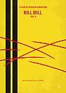 No049 My Kill Bill - part 2 minimal movie poster by Chungkong