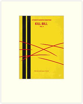 No049 My Kill Bill - part 2 minimal movie poster by Chungkong