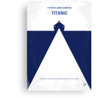 No100 My Titanic minimal movie poster Canvas Print