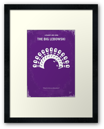 No010 My Big Lebowski minimal movie poster by Chungkong
